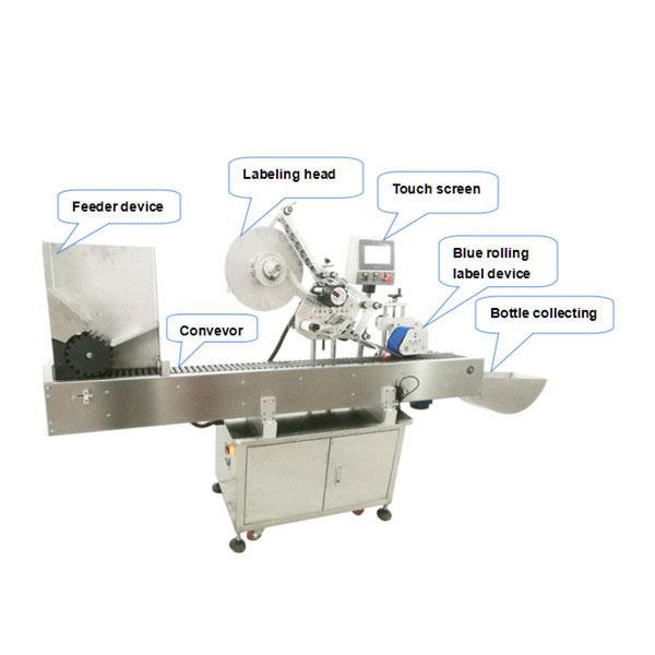 Stroj za automatsko samolijepljenje naljepnica male okrugle boce od 10 ml