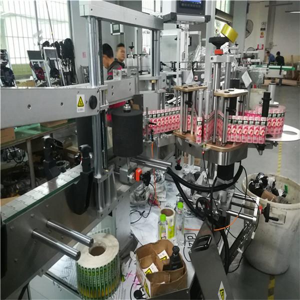 Stroj za etiketiranje dvostranih naljepnica za bocu ulja za pravokutne četvrtaste posude