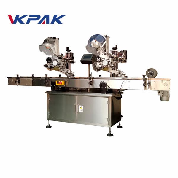 Stroj za etiketiranje samoljepljivih naljepnica ravne površine sa strojem za kodiranje