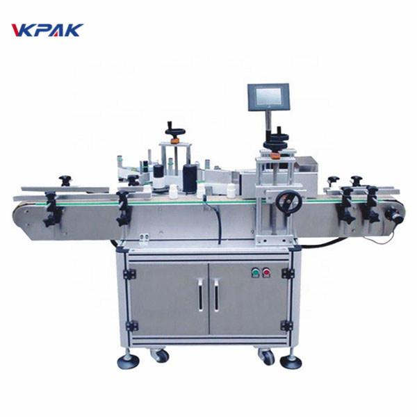 Samoljepljiva automatska mašina za označavanje naljepnica s okruglom bocom Plc Control