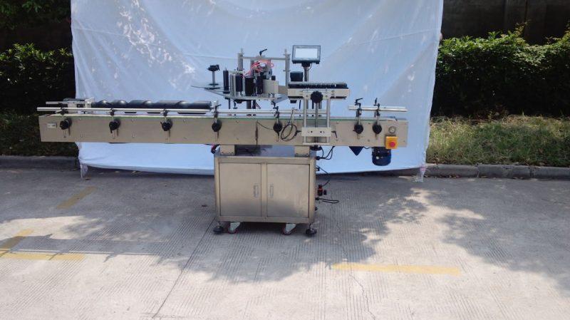 Kina Automatski stroj za etiketiranje okruglih boca za nesuho ljepilo, drveni kofer / stroj za etiketiranje pakiranja za CE dobavljača