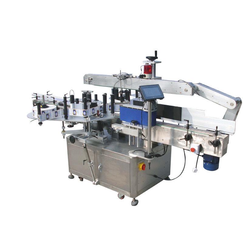 Stroj za etiketiranje dvostranih naljepnica s okruglim bocama za piće, hranu i kemikalije