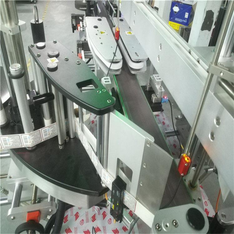 Kina Automatski stroj za etiketiranje dvostranih naljepnica za kvadratne okrugle ravne boce dobavljač