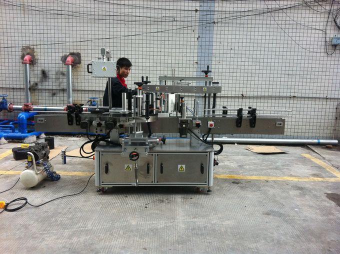 Potpuno automatski ljepljivi stroj za etiketiranje okruglih boca za boce za kućne ljubimce sprijeda i straga