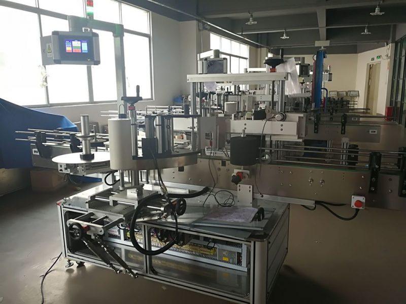Kina dobavljač stroja za etiketiranje ravnih boca, automatskog PLC uređaja za nanošenje naljepnica i zaslona osjetljivog na dodir